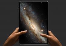 концепт безрамочного iPad Pro с Face ID