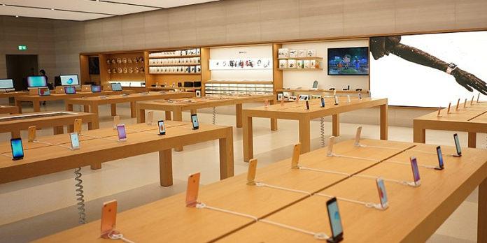 ограбили Apple Store