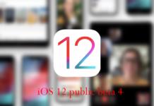 iOS 12 public beta 4