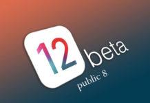 iOS 12 public beta 8