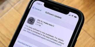 публичная iOS 12.1 beta 3