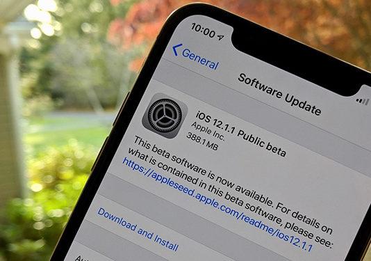 публичная iOS 12.1.1 beta 1