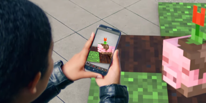 Minecraft в AR