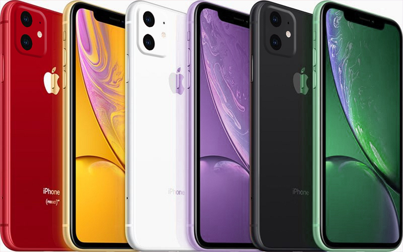 цвета iPhone XR 2019