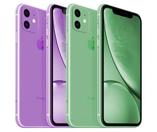 оттенки iPhone XR 2019
