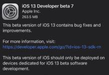iOS 13 beta 7 для разработчиков