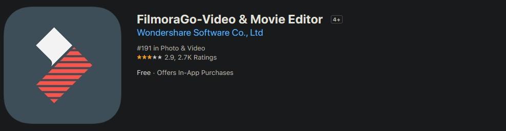 Приложение FilmoraGo