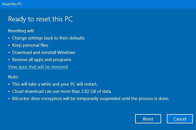 Cloud Download Windows 10