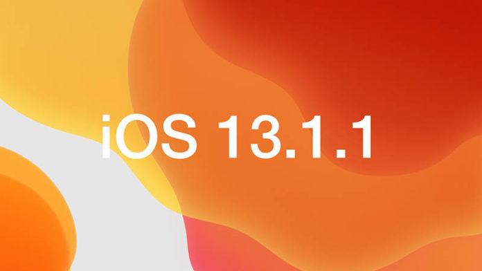 iOS 13.1.1 iPadOS 13.1.1