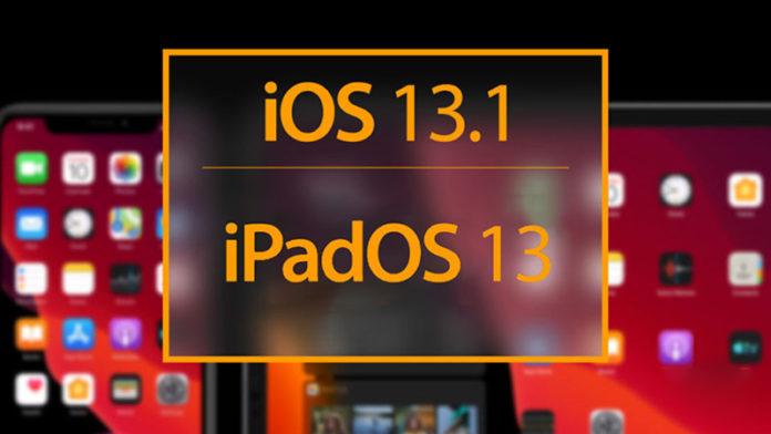 iOS 13.1 и iPadOS 13