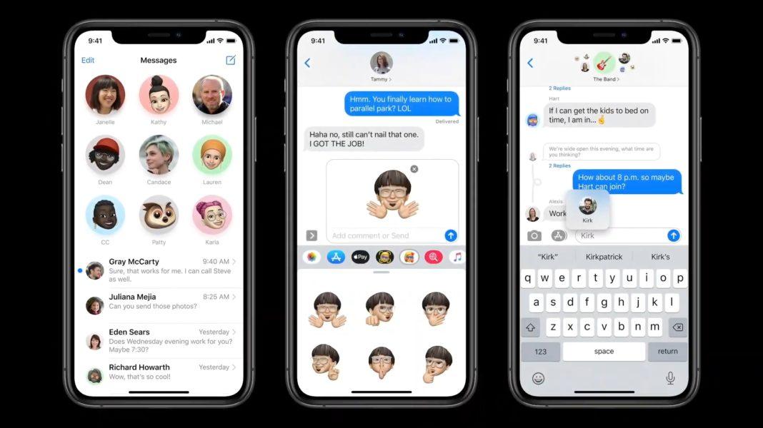 iOS 14 Сообщения