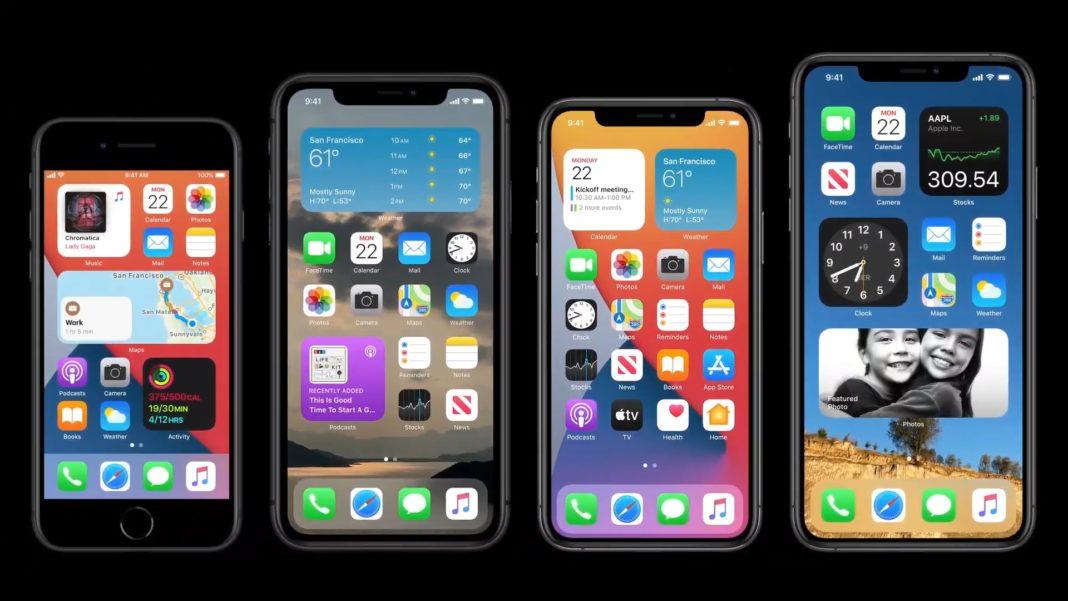 iOS 14 виджеты