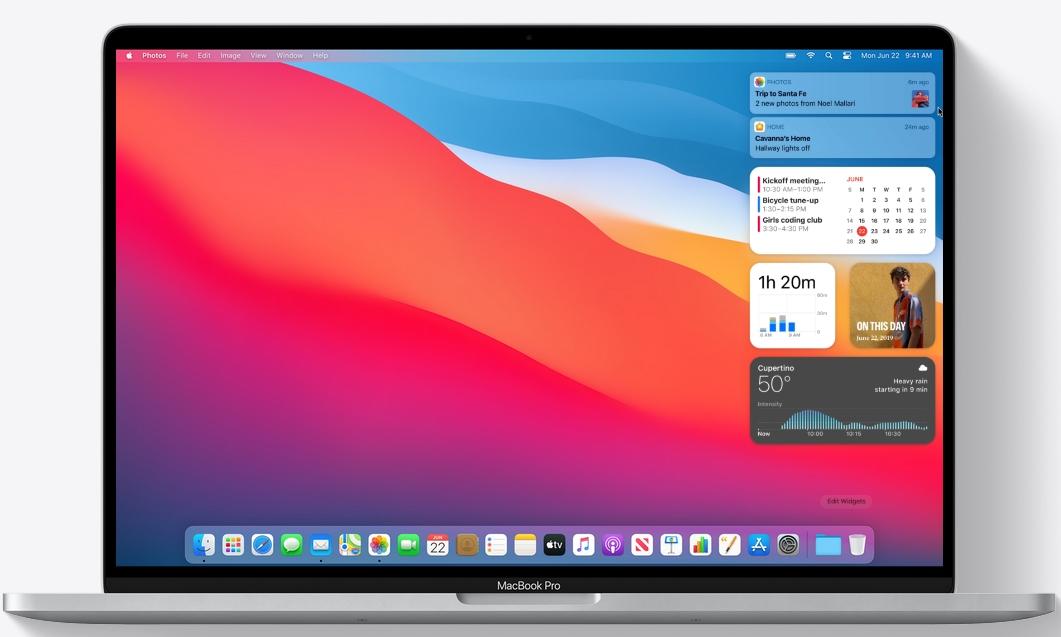 macOS Big Sur дизайн