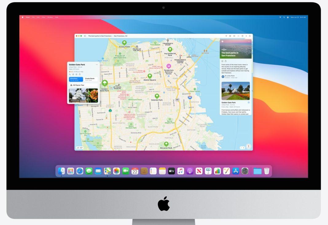 macOS Big Sur Карты
