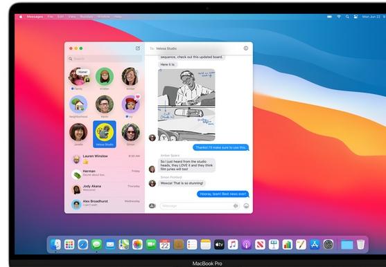 macOS Big Sur сообщения