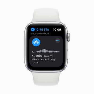 watchOS 7 maps