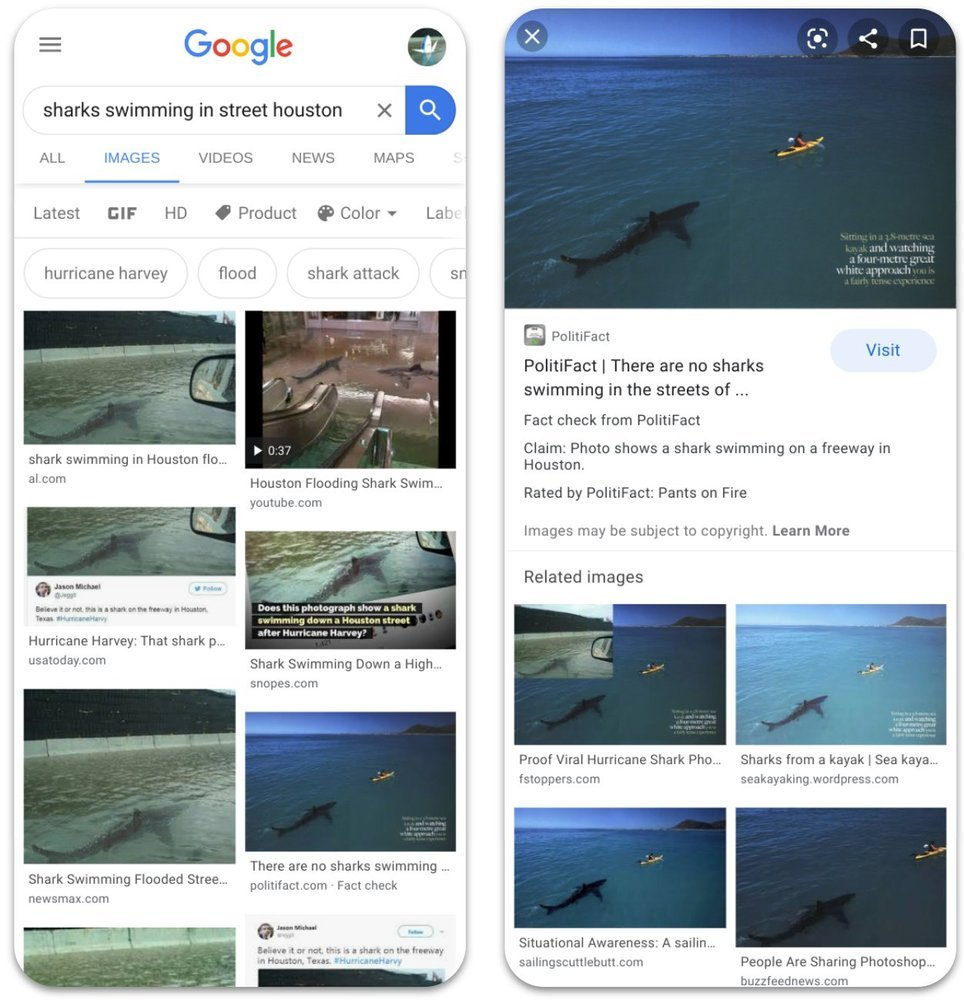 Google подлинность изображений