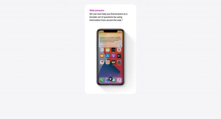 Умная Siri iOS 14