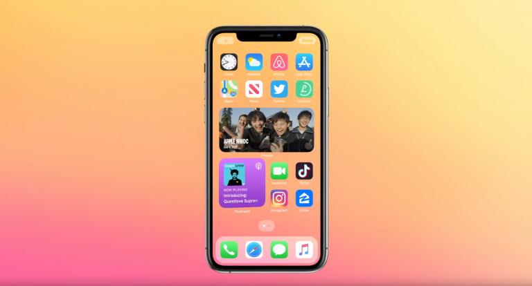 Виджеты на главном экране iOS 14
