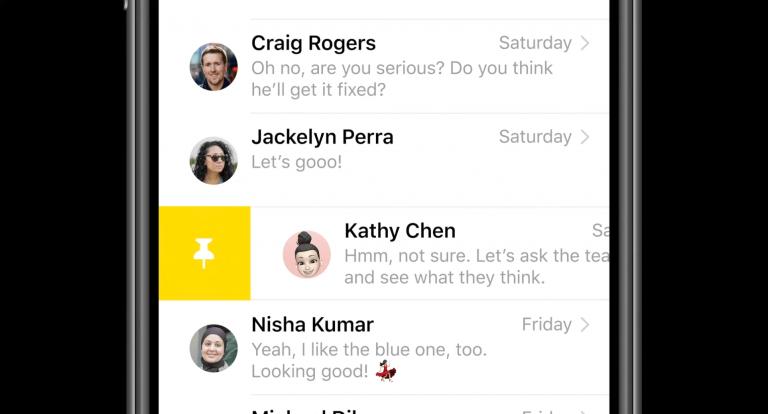 Закрепленные iMessages iOS 14