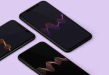 Обои для iPhone в стиле красочной формы волн