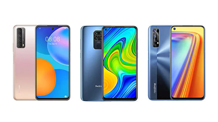 Huawei P Smart 2021 vs Redmi Note 9 vs Realme 7