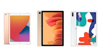 iPad 8 vs Samsung Galaxy Tab A7 vs Huawei MatePad 5G