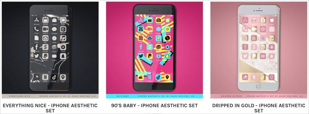 Эстетические наборы для iPhone от Shari Designs