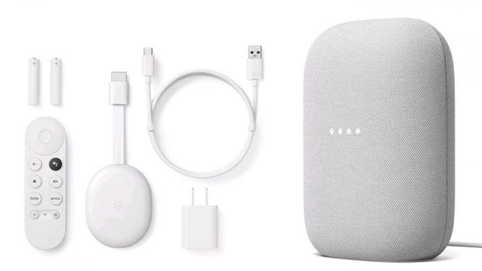 Google Nest Audio и ТВ-приставка Chromecast с Google TV