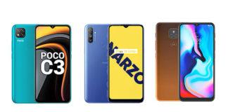 POCO C3 vs Realme Narzo 10A vs Moto E7 Plus