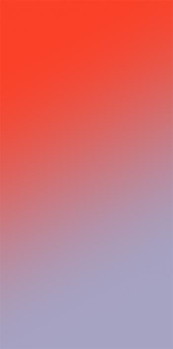 Мягкие синие оттенки до ярко оранжевых цветов в градиентных обоях для iPhone