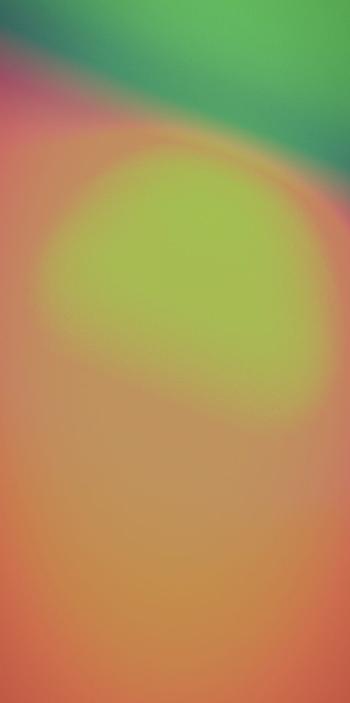 Оранжевый, зеленый и желтый градиент в обоях для iPhone