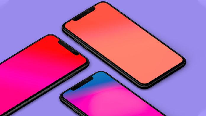 Яркие градиентные обои для iPhone
