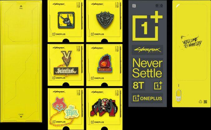 Комплект OnePlus 8T Cyberpunk 2077 Limited Edition