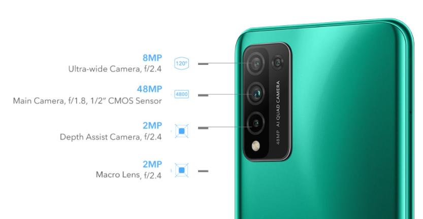 камера Honor 10X Lite