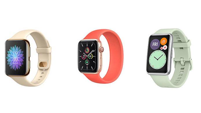 OPPO Watch vs Apple Watch SE vs Huawei Watch Fit