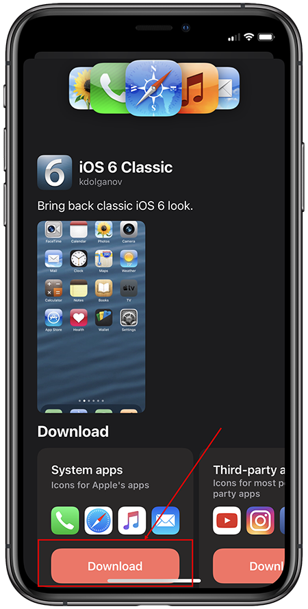 iOS 6 на iPhone 12