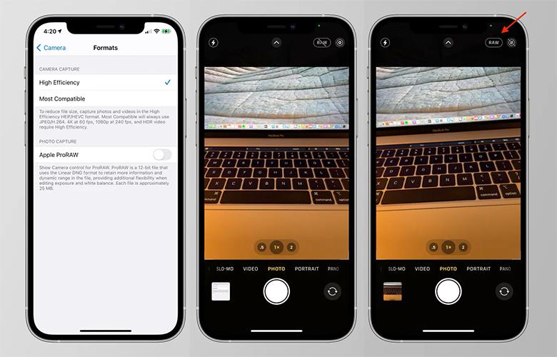 ProRAW в iOS 14.3