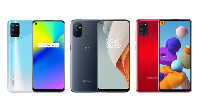 Realme 7i vs OnePlus Nord N100 vs Samsung Galaxy A21s