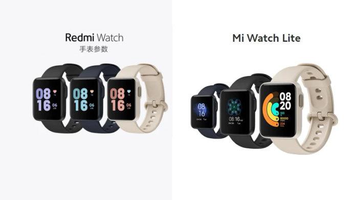 Mi Watch Lite vs Redmi Watch