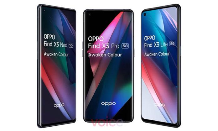 OPPO Find X3 Pro, X3 Lite и X3 Neo