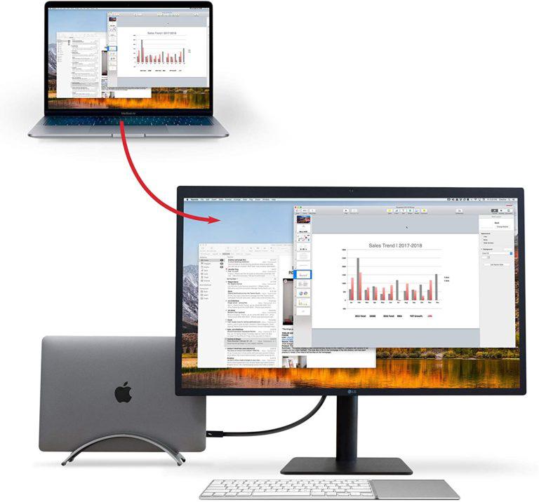 Подставка Twelve South Arc для MacBook