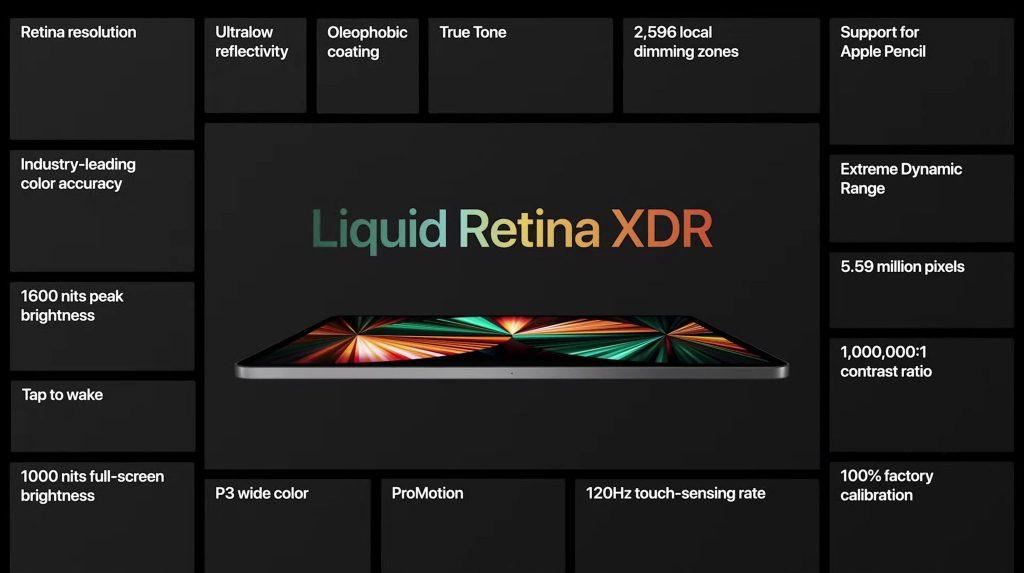 Apple iPad Pro 2021 дисплей