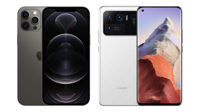 Apple iPhone 12 Pro Max vs Xiaomi Mi 11 Ultra