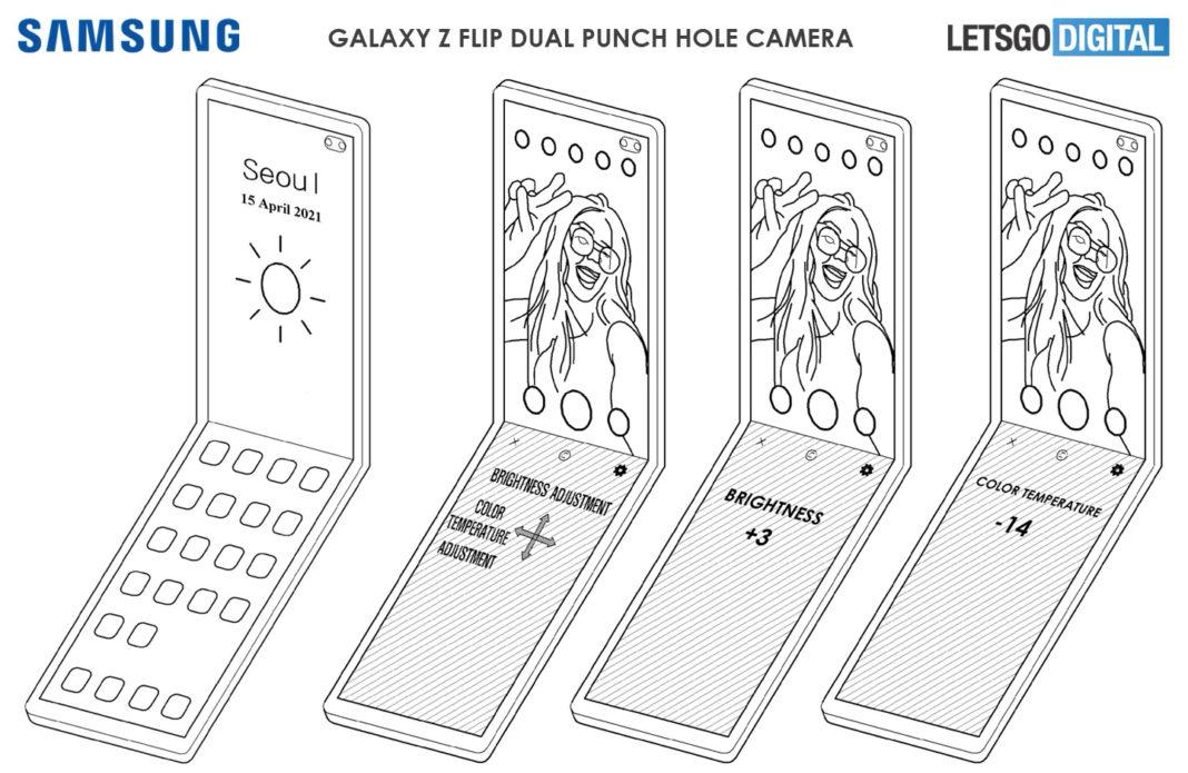 Патент Samsung Galaxy Z Flip с двойной камерой