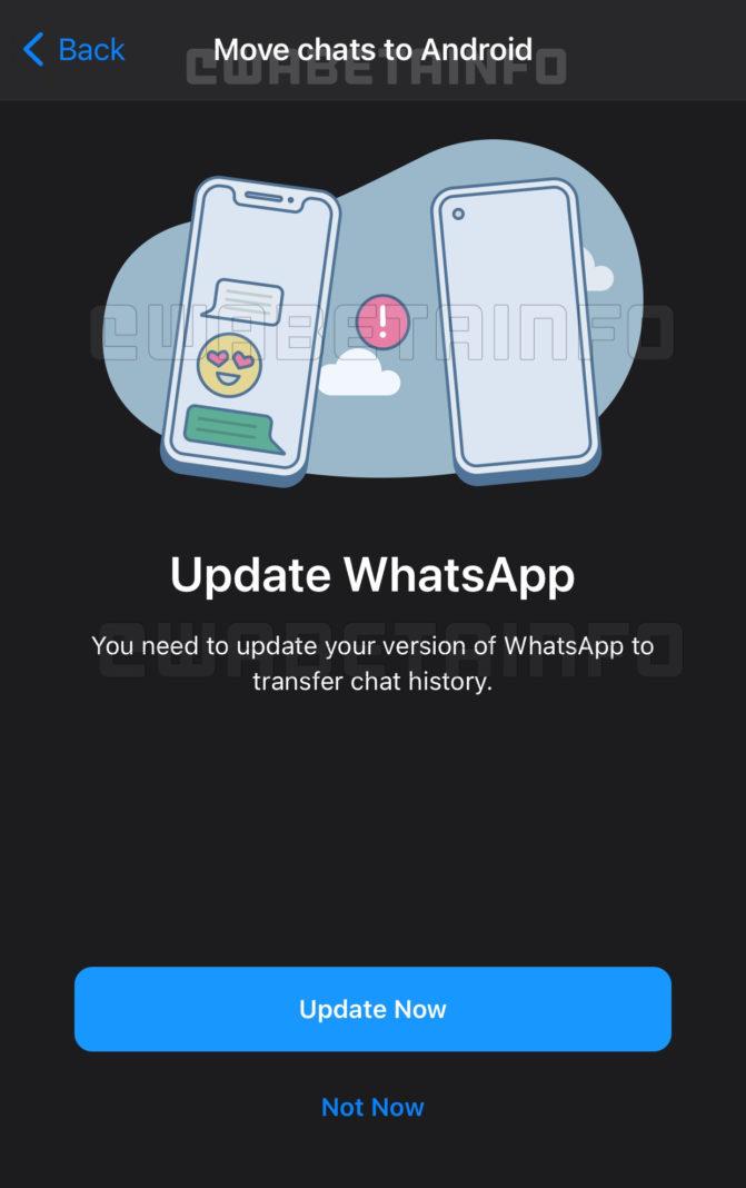WhatsApp перенос чатов между Android и iOS