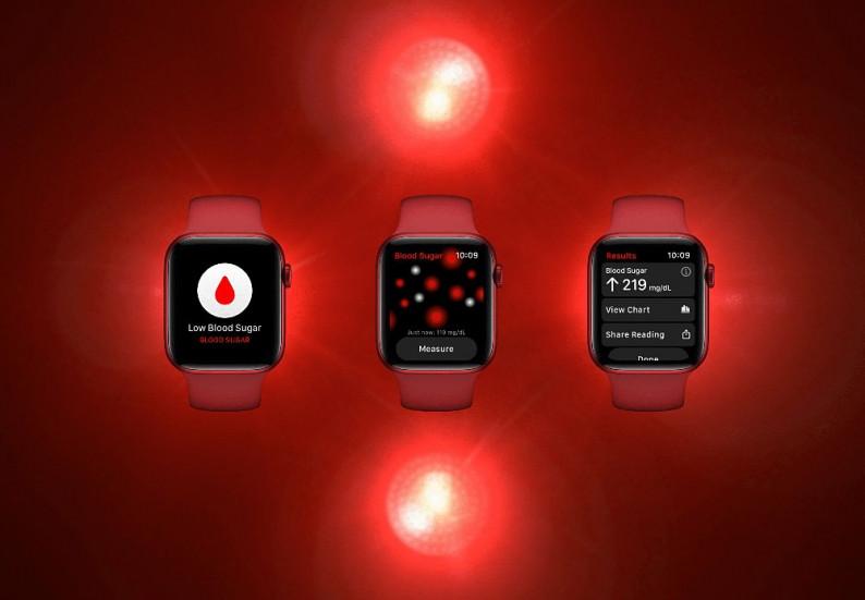 Apple Watch Series 7 глюкометр
