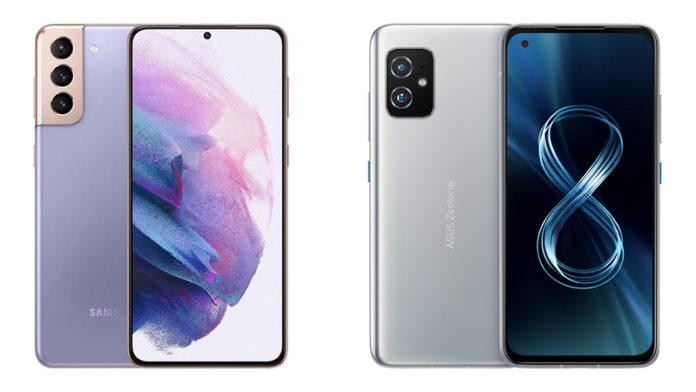 Samsung Galaxy S21 vs Asus Zenfone 8 Flip